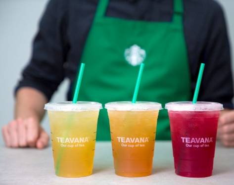 Get buy one, get one free Teavana shaken iced teas at Starbucks on June 10!