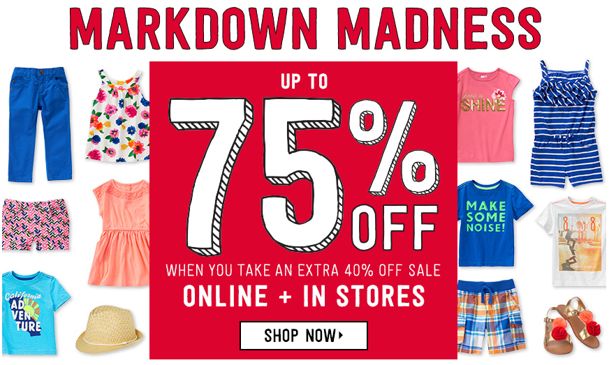 Get up to 75% off Crazy 8 markdowns, plus free shipping on all orders!
