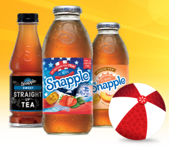 Get a coupon good for one FREE Snapple Iced Tea!