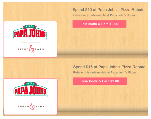 Get Papa John's Pizza rebates through Ibotta right now!