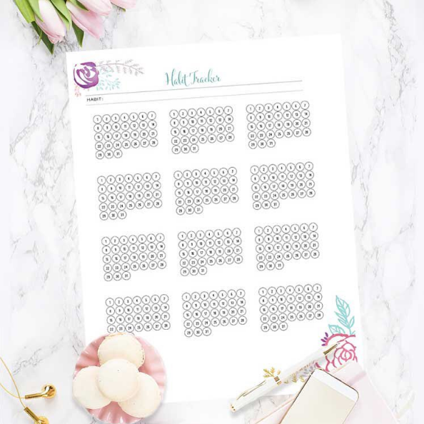 Download a free printable habit tracker!