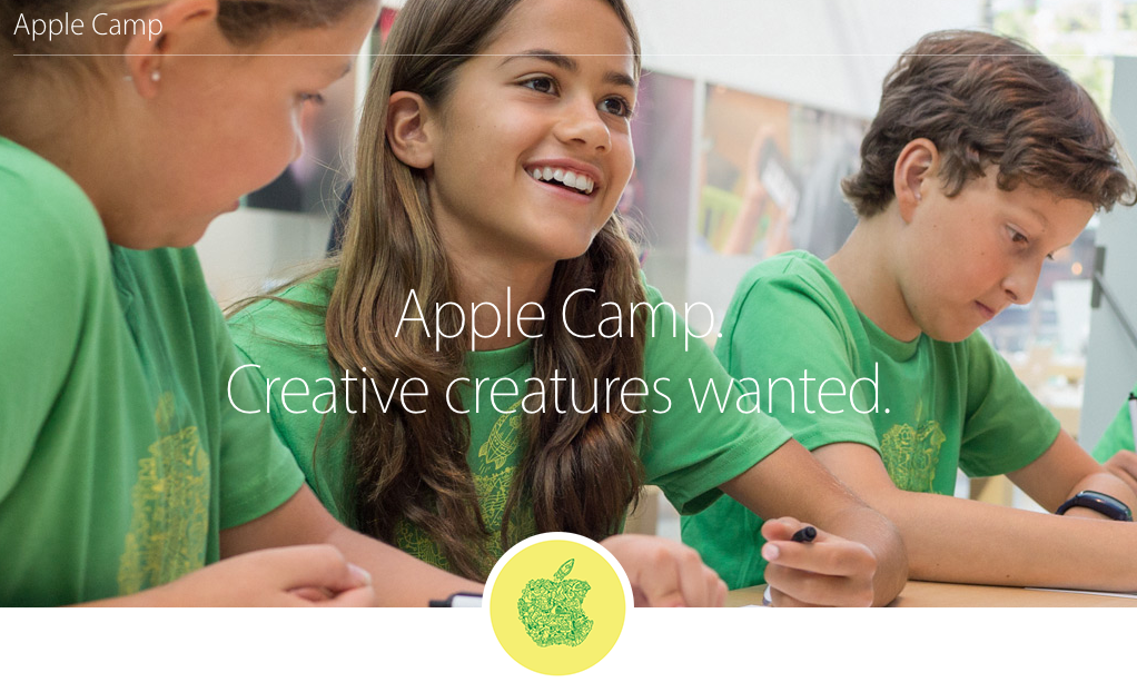 Apple is once again offering their kids' camps this summer!