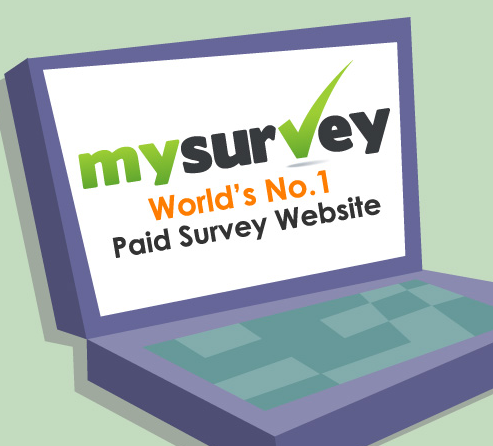 Sign up with MySurvey to earn cash and rewards for taking surveys!
