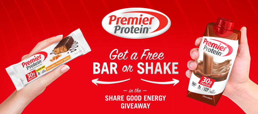 Sign up for a free Premier protein bar or shake!