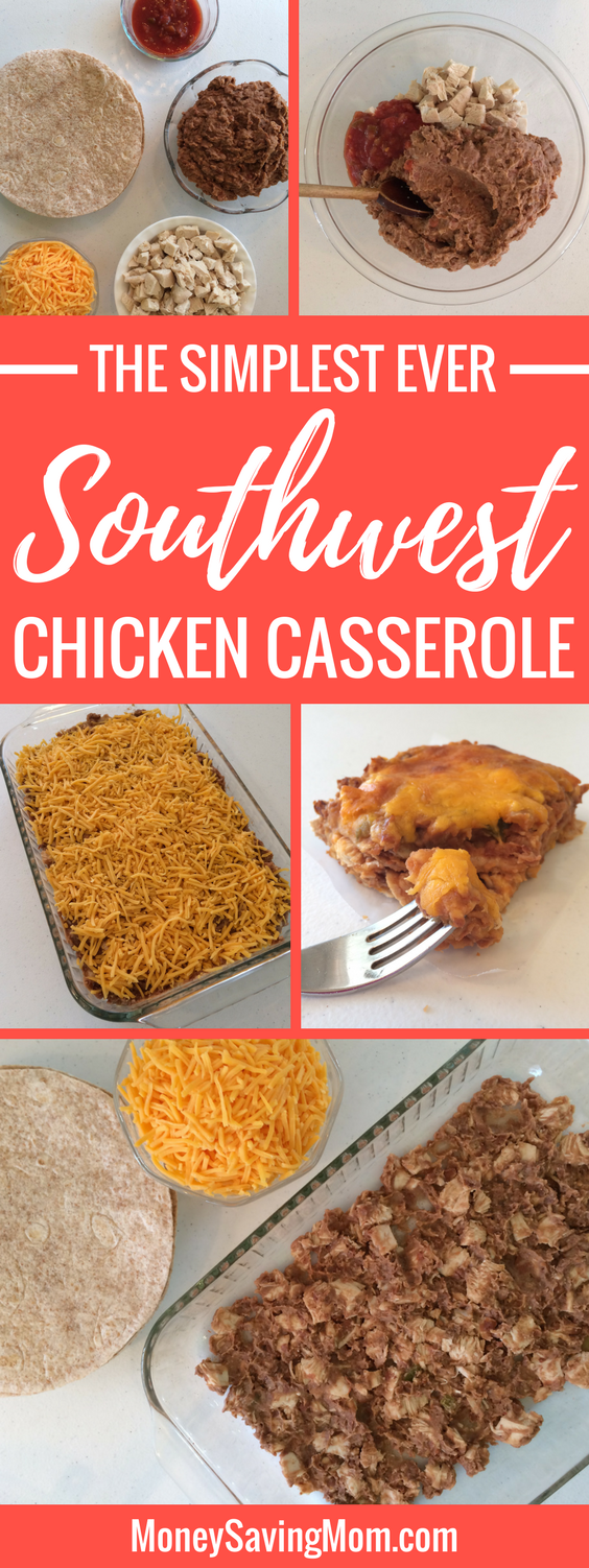 This Southwest Chicken Casserole is the easiest recipe ever and it's SO delicious! It will quickly become a family favorite -- especially one that the kids love!