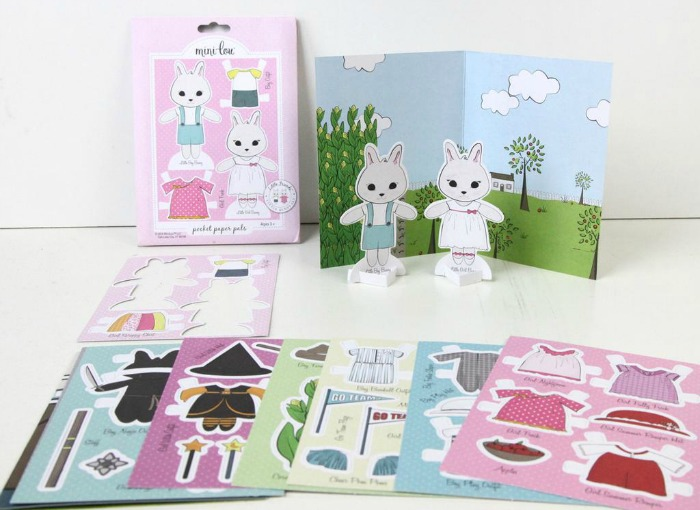 Minilou paper products get 5 off any 30 purchase free shipping their paper doll sets are so sweet and perfect for little hands they fit nicely in a cute little envelope which can be tucked right into your purse fandeluxe Choice Image