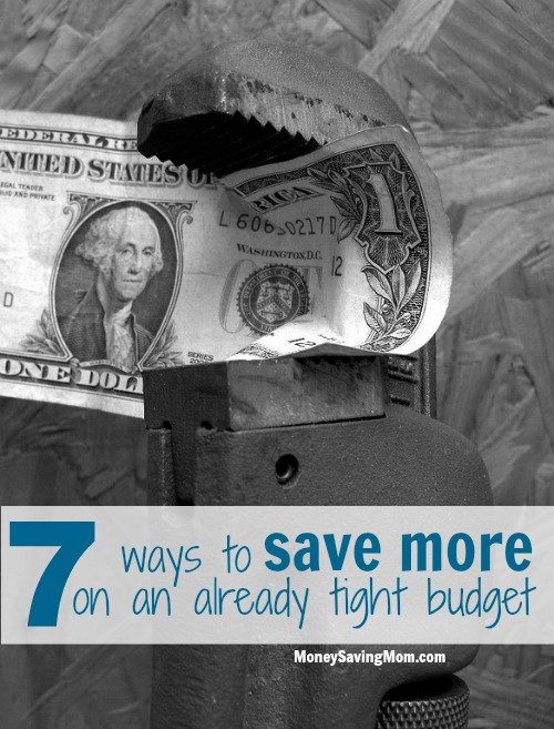 save more on a tight budget