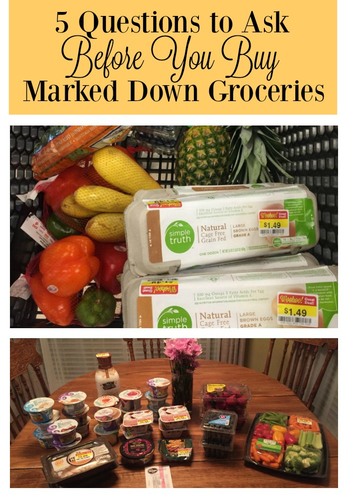5 Questions to Ask Before You Buy Marked Down Groceries