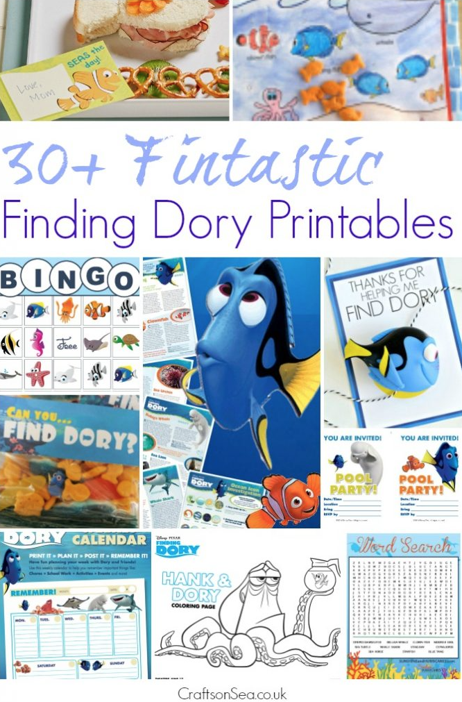 Download 30+ free Finding Dory printables.