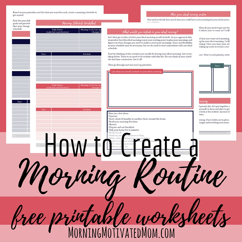 photograph regarding Free Printable Needs and Wants Worksheets named Free of charge Early morning Plan Printable Worksheets Economic Preserving Mother
