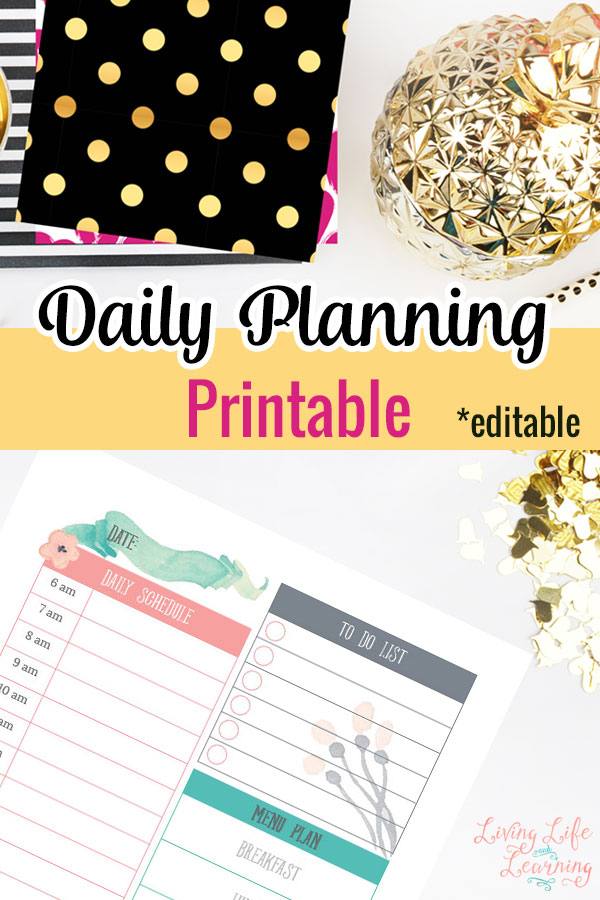 Download free printable planning pages and goal setting worksheets!