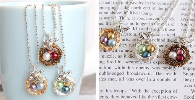 Get a personalized Bird's Nest Necklace for just $7.99 + shipping!