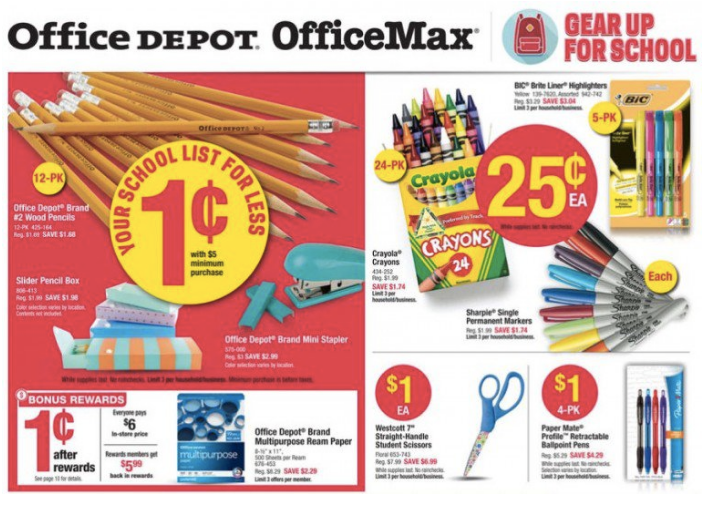 Get over $50 worth of school supplies at Office Depot:OfficeMax right now for $5.09!