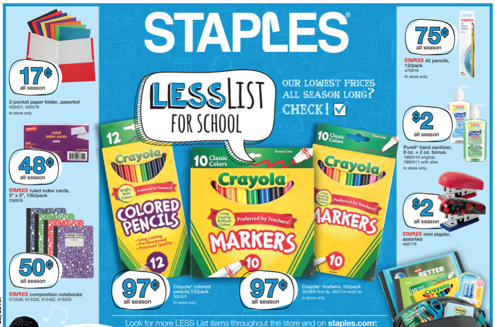 Here are the best deals at Staples for the week of July 17, 2016.