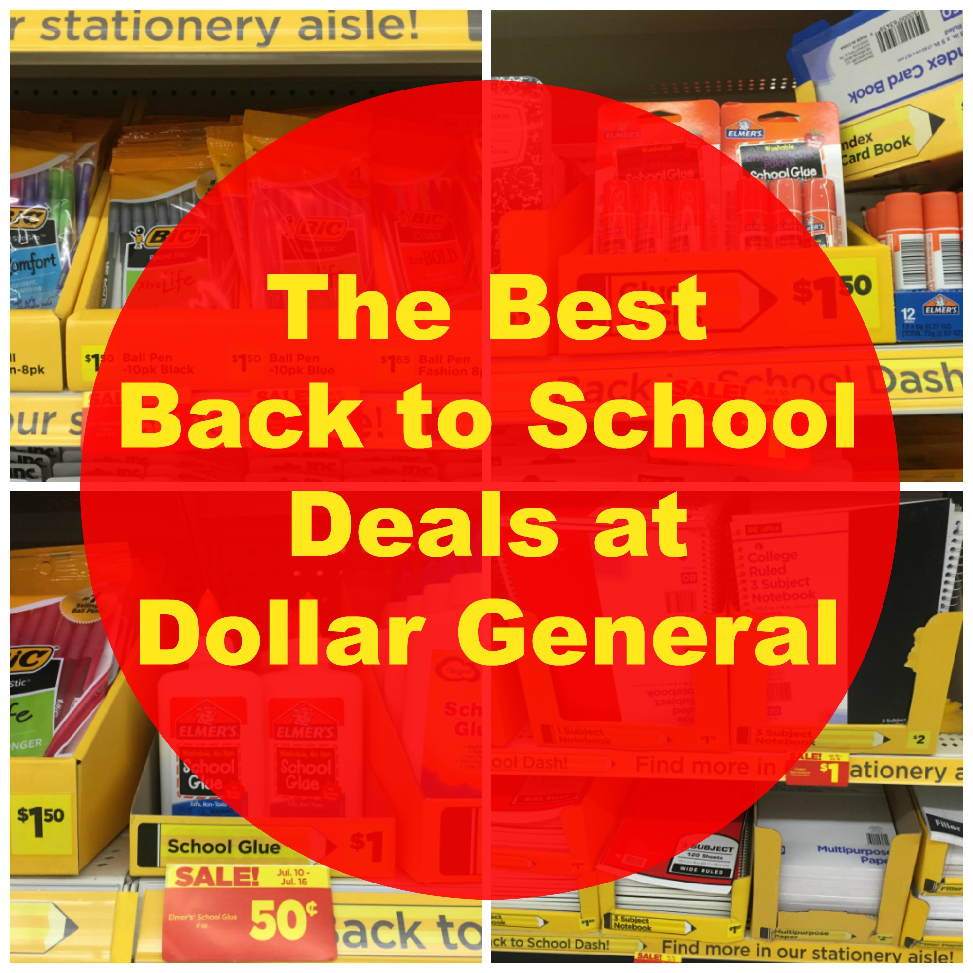 The Best Back to School Deals at Dollar General