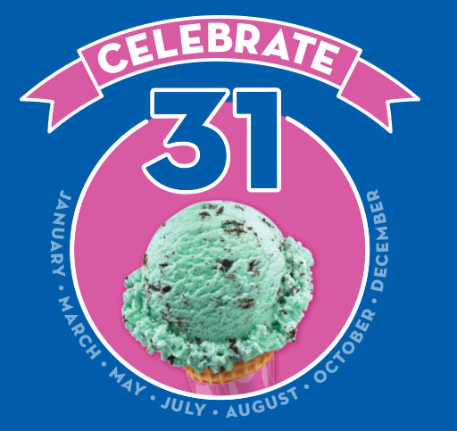 Stop by Baskin Robbins tomorrow, December 31st, to get $1.31 ice cream scoops!!