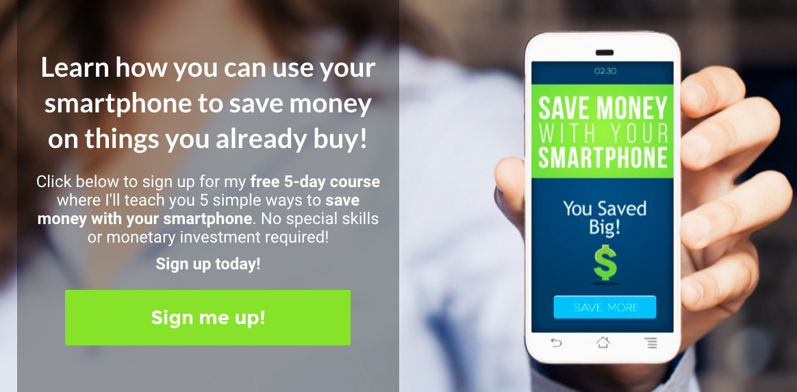 Free 5-day course on saving money with your smartphone