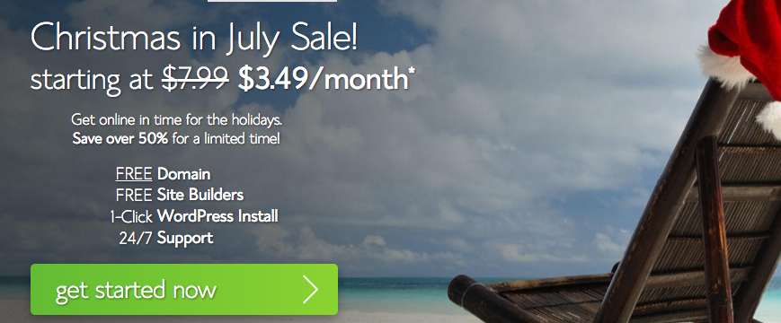 Bluehost Sale: web hosting for just $3.49 per month!