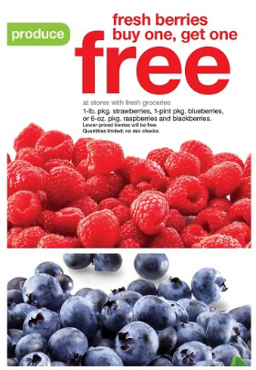 Get buy one, get one free fresh berries at Target this week!