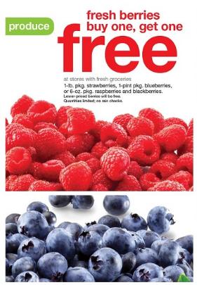 Get buy one, get one free fresh berries at Target this week!