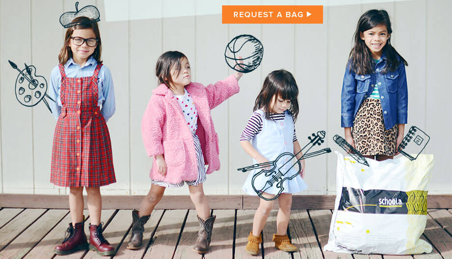 Get four kids' clothing items for FREE after a $20 Schoola sign-up credit!