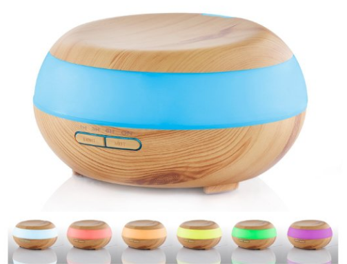 Get this Modern Wood Grain Essential Oils Diffuser for just $29.99 right now after coupon code!