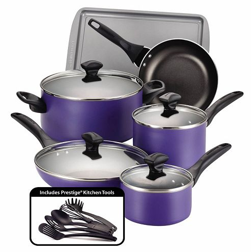 Get the Farberware Color Nonstick 15-Piece Cookware Set for as low as $27.99!