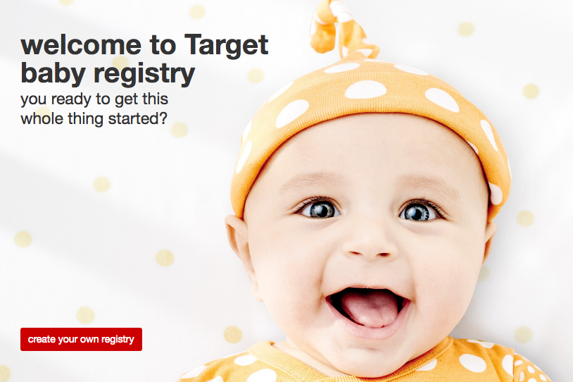 Get a FREE $50 welcome gift when you create a Target baby registry!