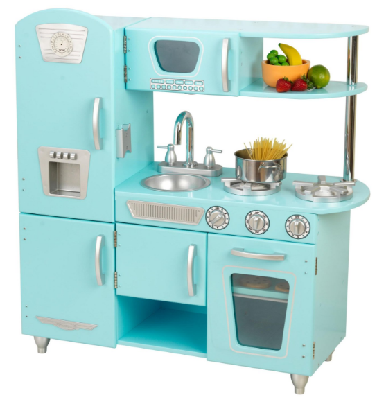Get the KidKraft Play Kitchen in Blue for just $81 shipped right now!