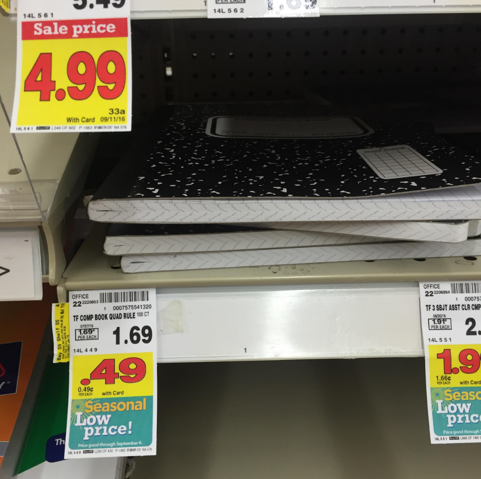 Kroger Back to School Deals