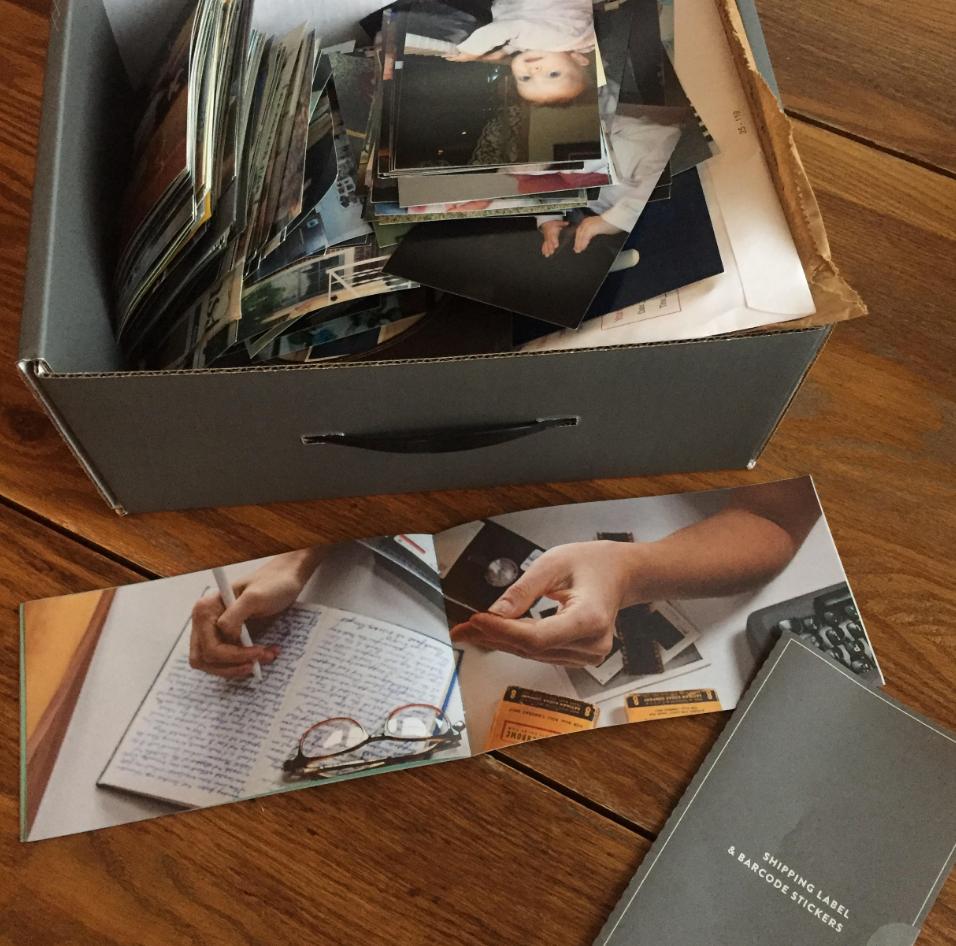 going through photos to send to Legacybox