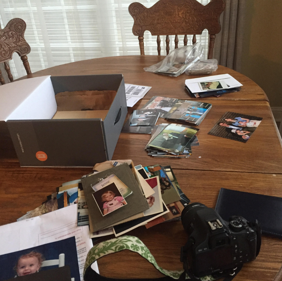 getting photos ready for Legacybox