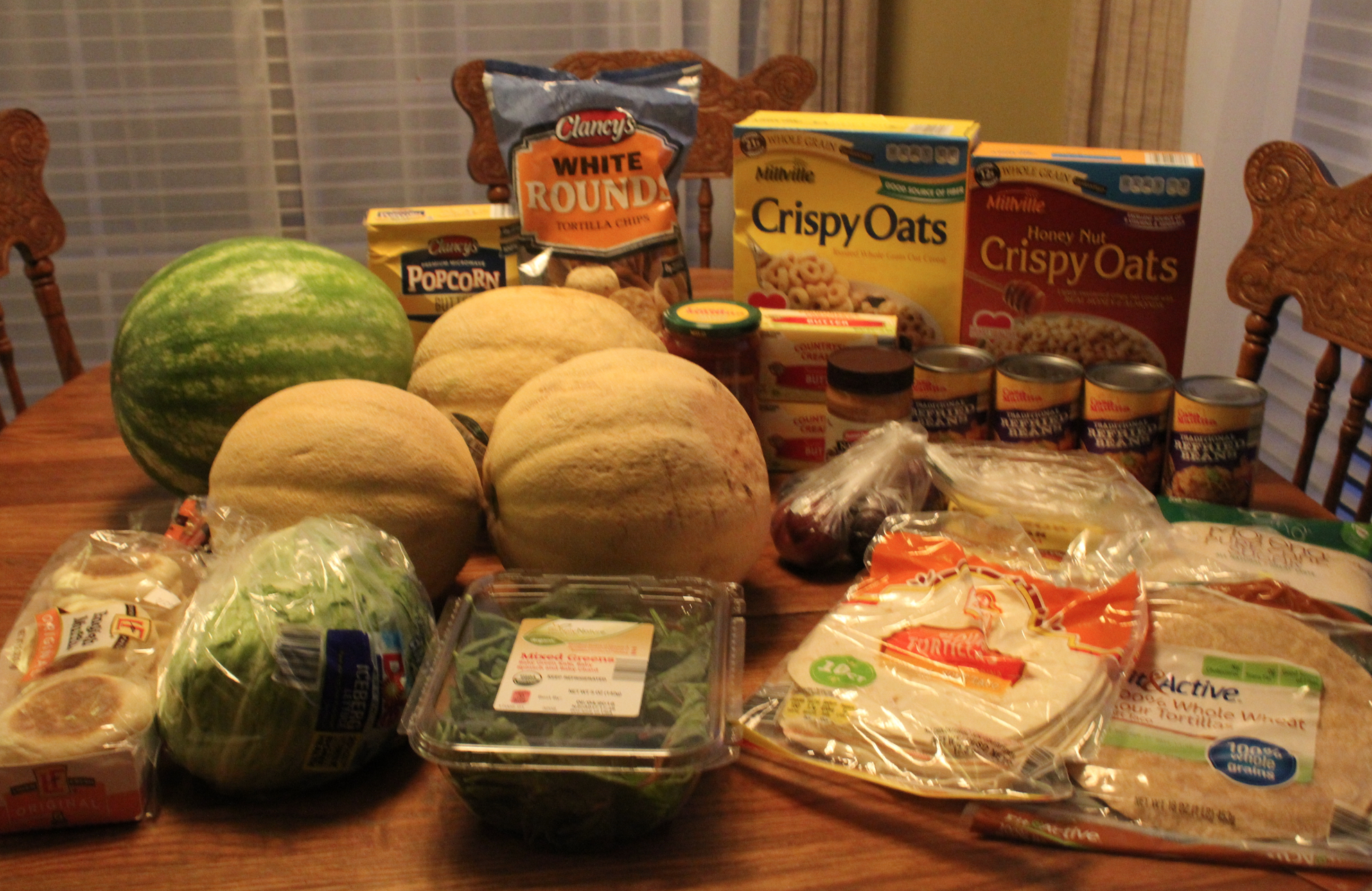 I only spent $35 and got all of these groceries!