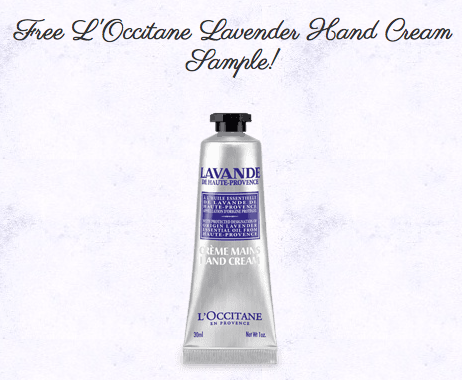 Sign up for a free sample of L'Occitane Lavender Hand Cream.