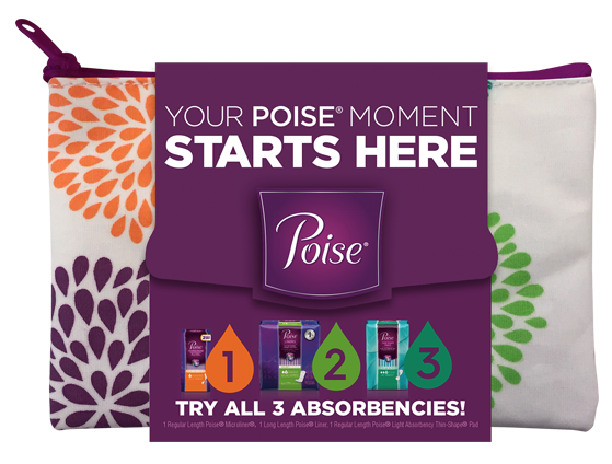 Sign up for a free sample pack of Poise Pads.