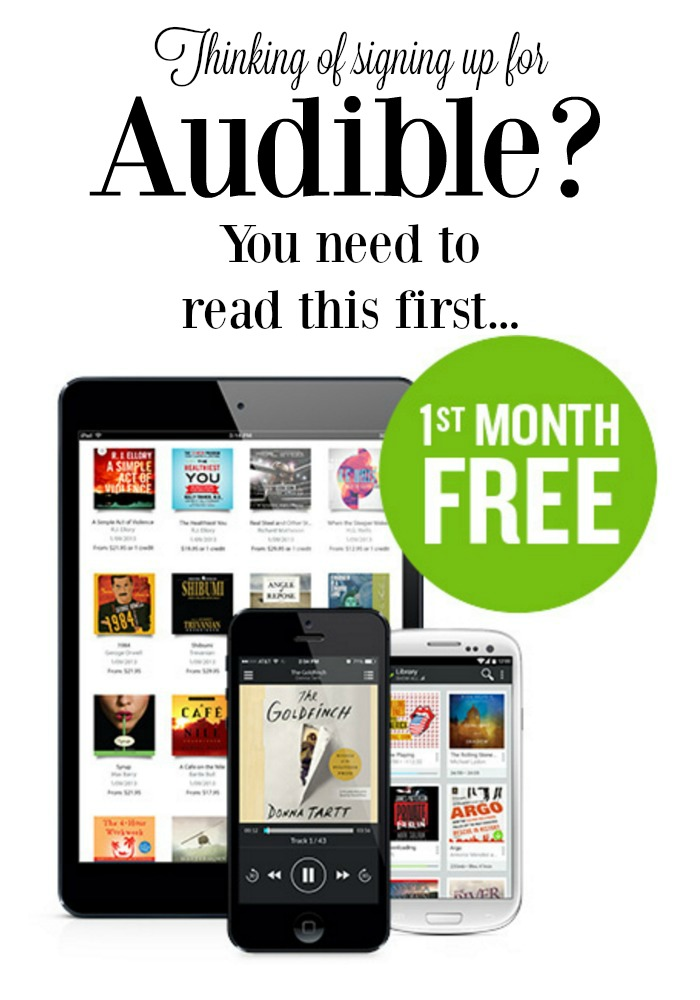 The Top 3 Audiobook Services (& why we decided not to sign up for