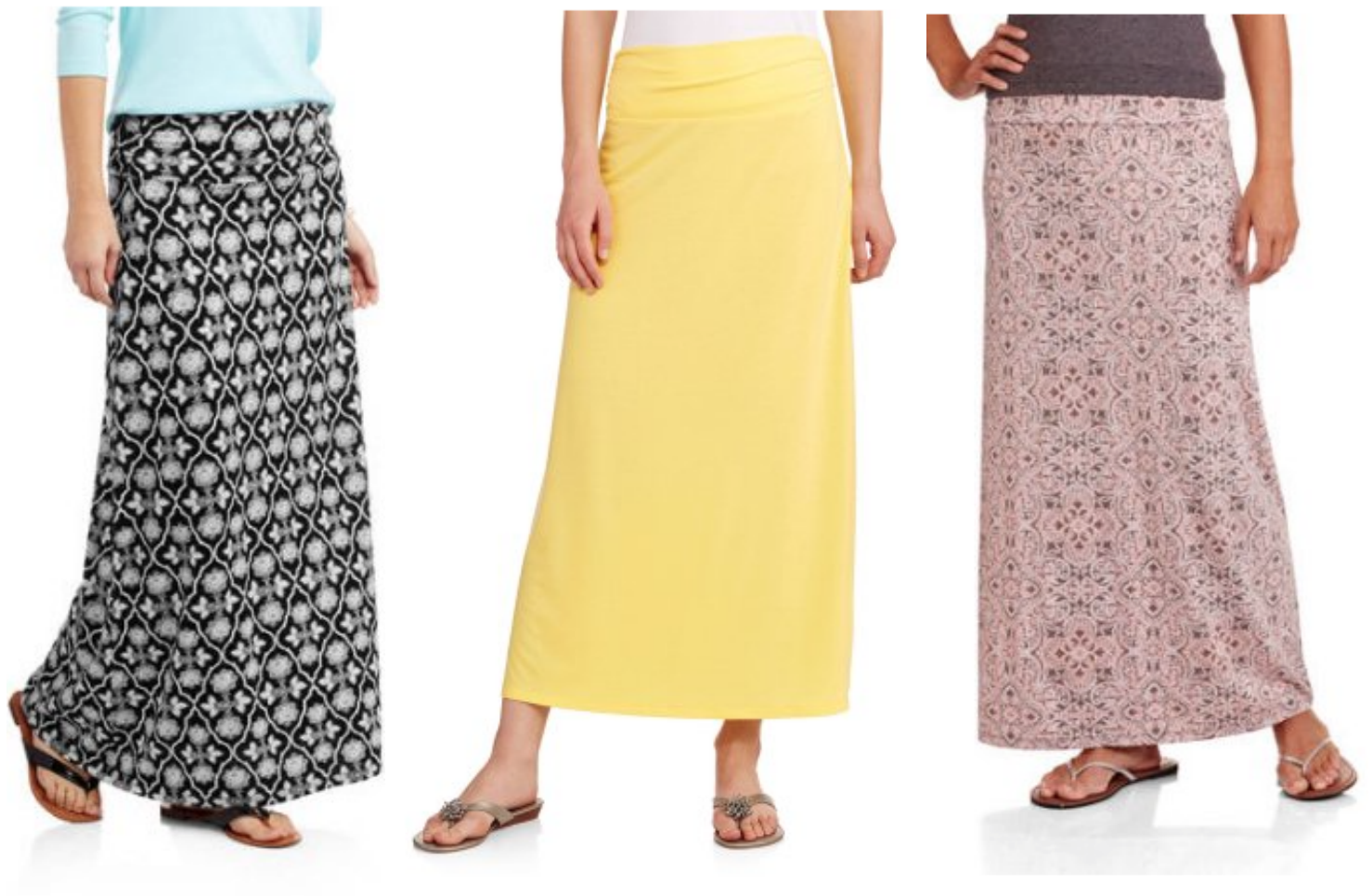Walmart: Faded Glory Women's Fashion Maxi Skirts for just $5 ...