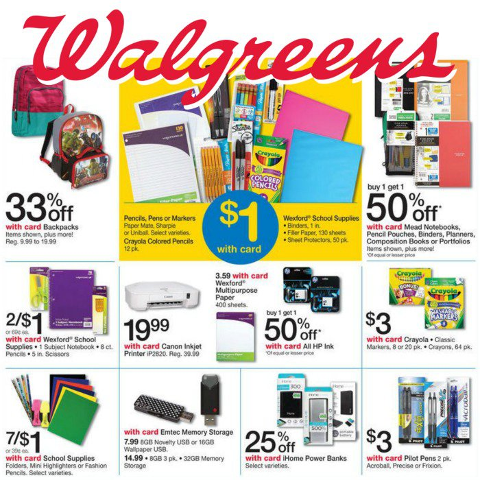 Here Are The Best Back To School Deals At Walgreens For Week Of July 24 2016