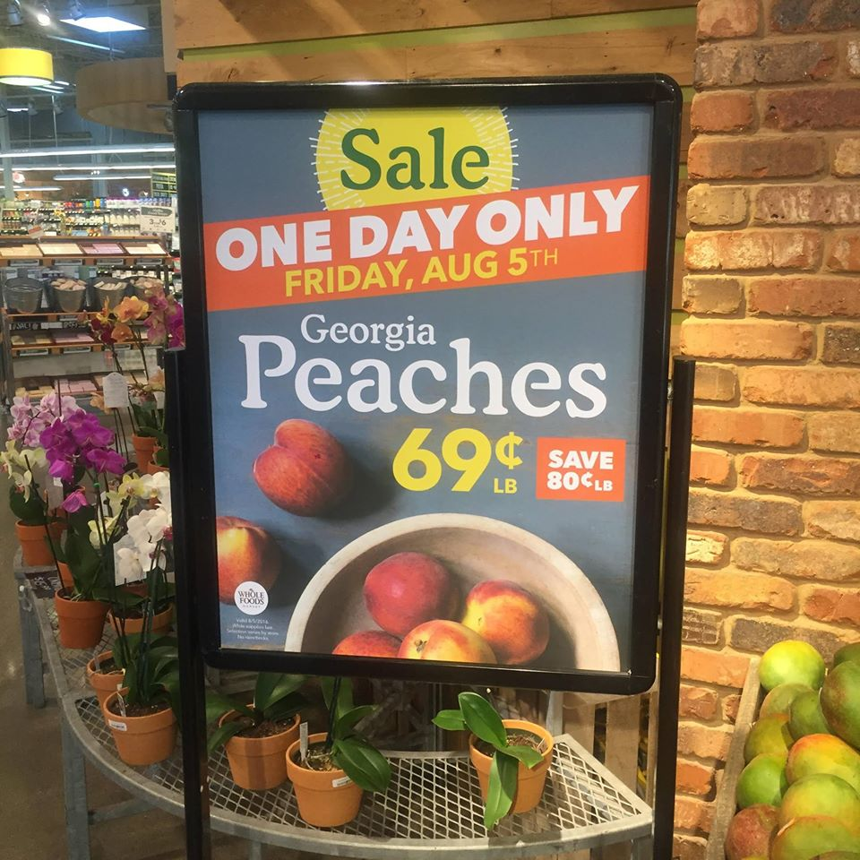 Peaches for just $0.69 per lb at Whole Foods??
