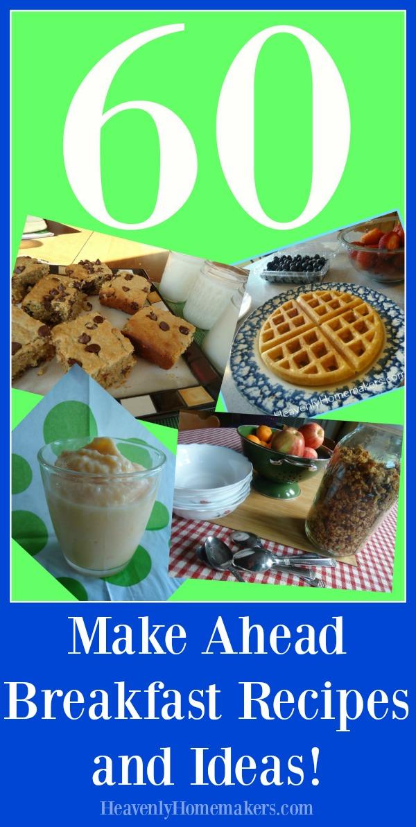 60 Make Ahead Back to School Breakfast Ideas