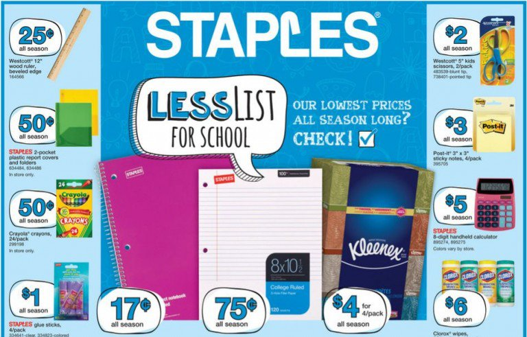 Check Out The Best Staples Back To School Deals For This Week August 7th