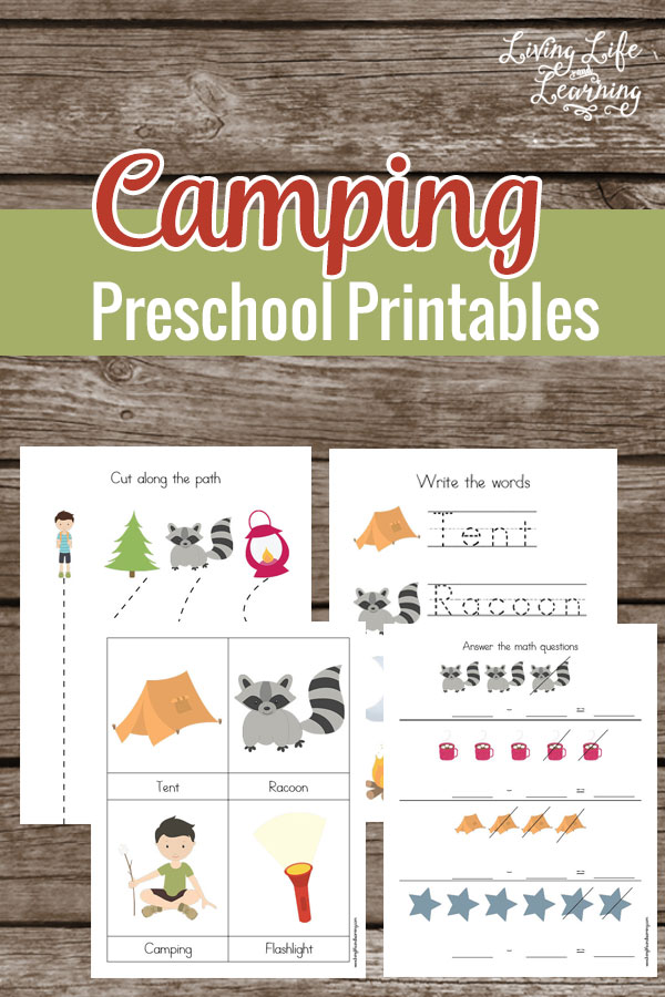 Download a free Camping Preschool Printable Pack