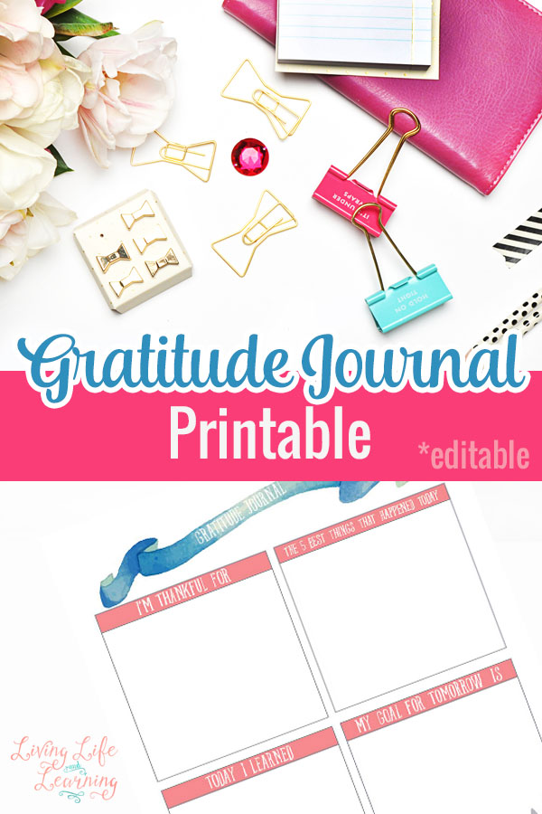It is a photo of Clean Gratitude Journal Printable
