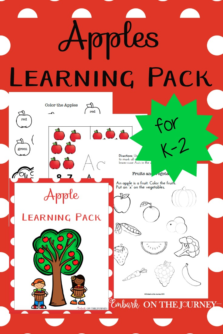 Download a free apple-themed printable pack!