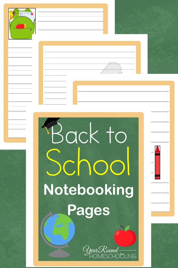 Free Printable Back to School Notebooking Pages