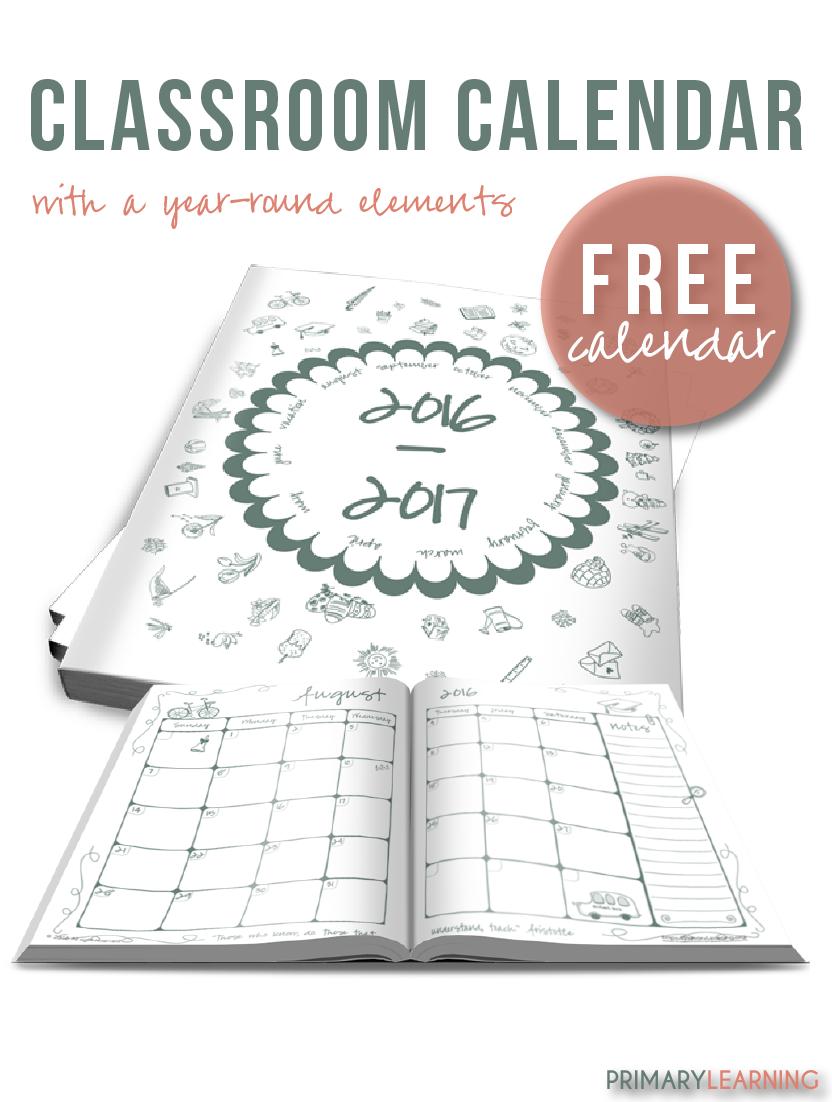 Calendar Printables For Teachers : Free printable classroom calendar for teachers money