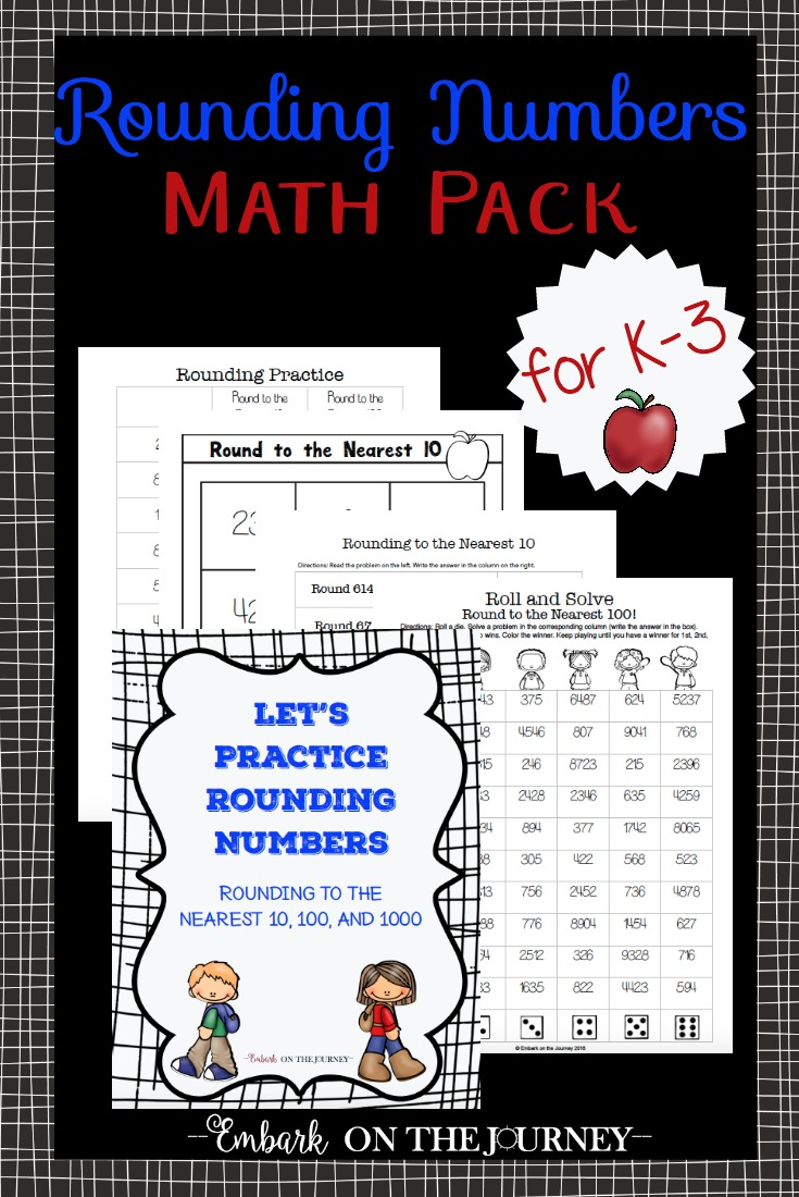 Free Rounding Numbers Math Printable Pack