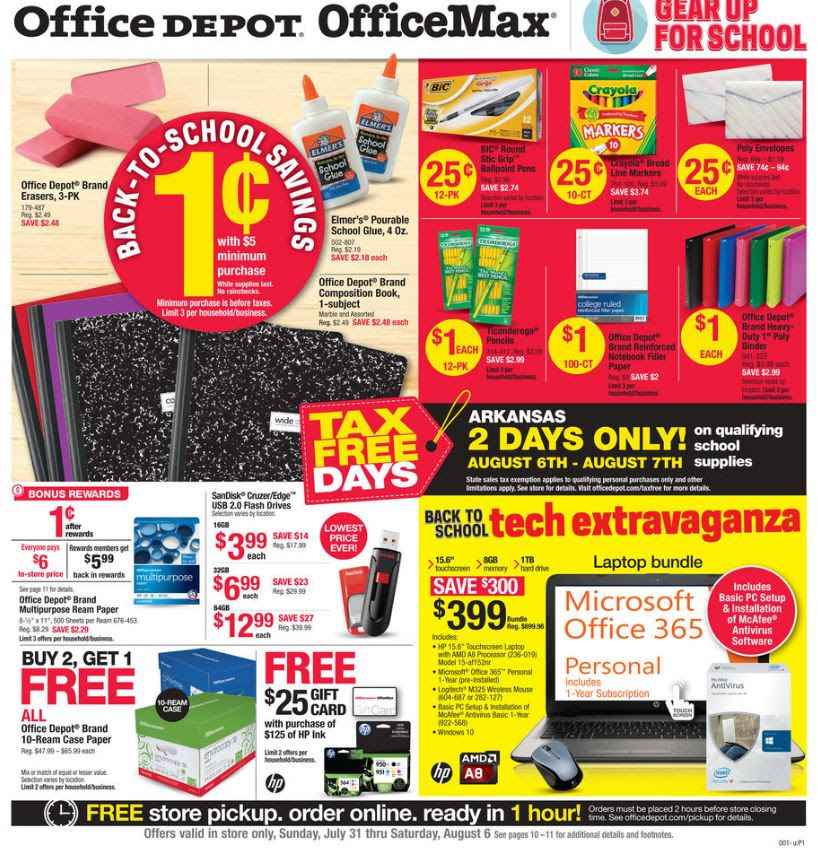 office depot officemax back to school deals for the week of july 31 2016 money saving mom. Black Bedroom Furniture Sets. Home Design Ideas
