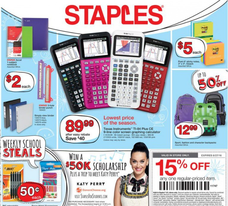 STaples Back to SChool August 21, 2016