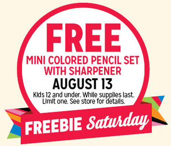 Kids can get a free Mini Colored Pencils Set at Kmart on Saturday!